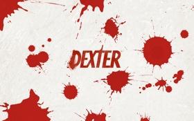 Обои брызги, декстер, кровь, пятна, dexter