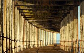 Обои мост, город, фон