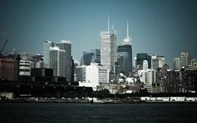 Картинка америка, вода, город, Нью-Йорк, штаты, сша, небоскребы