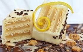 Обои белый, шоколад, конфеты, сладости, десерт, пирожные