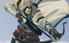 Картинка лук, арт, стрела, assassins creed, коннор кенуэй, connor kenway