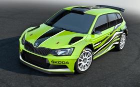 Картинка Concept, концепт, ралли, Rally, шкода, Skoda, Fabia