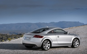 Обои дорога, машины, камни, фото, Audi, ауди, пейзажи