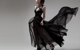 Картинка стиль, фон, Девушка, платье