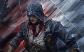Обои art, unity, арт, assassins creed, Арно, assassin