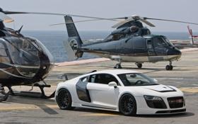Обои Audi, ауди, GTR, вертолёт, white, передняя часть, Razor
