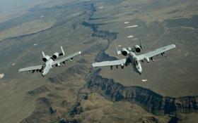 Картинка ландшафт, пара, A-10, штурмовики, Thunderbolt II, «Тандерболт» II