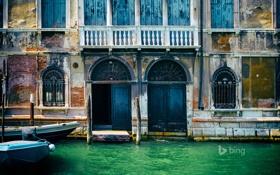 Картинка дом, лодка, дверь, Италия, Венеция, канал, фасад