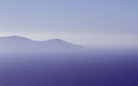 Обои море, небо, гора