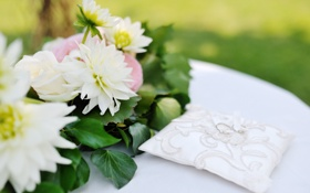 Обои цветы, букет, свадьба
