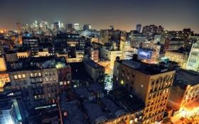 Обои ночь, огни, нью-йорк, night, New York City, usa, nyc