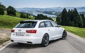 Обои Audi, тюнинг, Ауди, вид сзади, универсал, AS6-R, Abt
