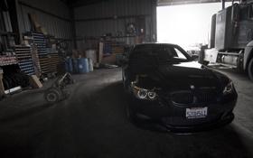 Картинка передок, black, чёрный, бмв, bmw, e60, седан