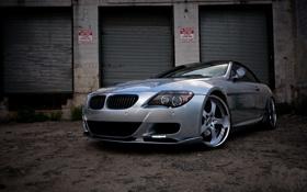 Обои silvery, серебристый, e63, кабриолет, cabriolet, бмв, bmw