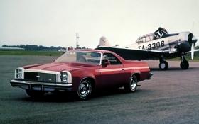 Картинка Chevrolet, Шевроле, самолёт, передок, El Camino, 1973, Эль Камино