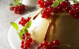 Обои ягоды, еда, крем, десерт, смородина, food, сладкое