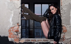 girl,model,beauty,sexy,legs,boots обои