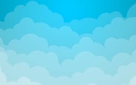 Картинка облака, голубые, blue