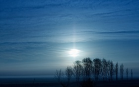Картинка Аргентина, пампасы, Луна, туман