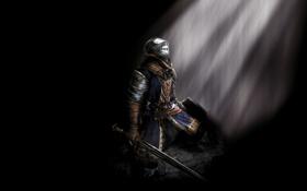 Обои игра, доспехи, рыцарь, dark souls