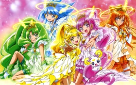 Картинка Candy, Cure Peace, Cure Beauty, Smile Precure!, Precure, Cure Sunny, Magical girl
