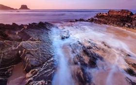 Обои море, камни, скалы, побережье