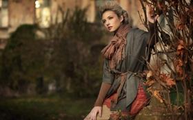Картинка осень, улица, Девушка