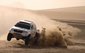 Картинка песок, Пыль, Пустыня, Машина, Скорость, Гонка, Toyota