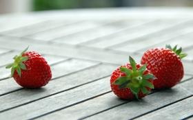 Обои макро, ягоды, клубника
