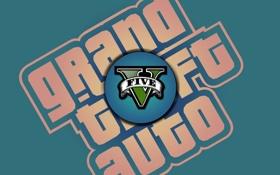 Обои логотип, logo, gta, гта, Grand Theft Auto 5