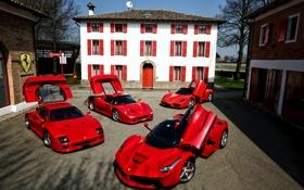 Обои Ferrari, F40, феррари, Enzo, F50, LaFerrari
