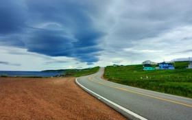 Обои дорога, небо, фото, Город, City, облока