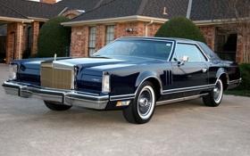 Обои Lincoln, дом, америка, 1977, Continental Mark V