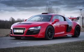 Обои Audi, ауди, машина, передок, Prior-Design, GT850, красный