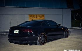 Обои Audi, Vossen Wheels, чорная