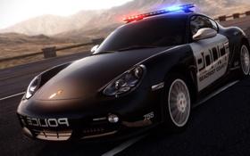 Обои дорога, авто, полиция, погоня, Porsche, need for speed, hot pursuit