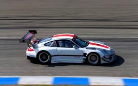 Обои дорога, Авто, 911, Porsche, Скорость, Вид сбоку, В Движении