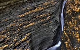 Обои природа, скала, ручей