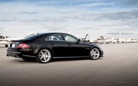 Картинка чёрный, Mercedes-Benz, C219, black, мерседес, AMG, самолёты