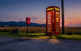 Обои дорога, ночь, телефон