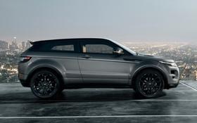Картинка город, купе, панорама, Victoria Beckham, Виктория Бекхем, Land Rover, Range Rover