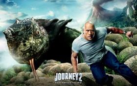 Обои Дуэйн Джонсон, Dwayne Johnson, Путешествие 2: Таинственный остров, Journey 2, The Mysterious Island