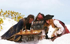 Обои сундук, пираты карибского моря, Pirates of the Caribbean