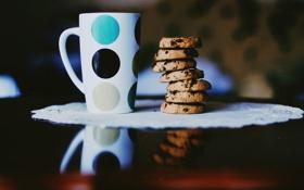 Картинка печенье, кружка, чашка