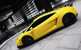 Картинка car, ламбо, lamborghini, yellow, желтая