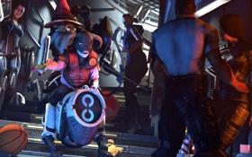 Обои Miranda Lawson, Mass Effect, Jack, Robotic Dog, KEI-9, dog-mech