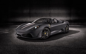 Картинка Авто, Кабриолет, Серый, Капот, F430, Ferrari, Фары