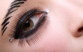 Картинка девушка, глаз, персинг