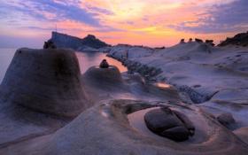 Картинка Sea, Taiwan, Rocks, Yehliu Geopark