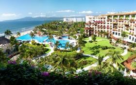 Картинка пейзаж, бассейн, Пуерто Вальярта, отель, pool, природа, Mexico